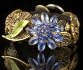 Blue Flower Meets Victorian Bracelet