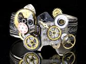 Time is Askew Steampunk Bracelet
