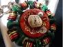 Festive Steampunk Vintage Assemblage Necklace