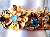 Flower Bangle Vintage Assemblage Bracelet