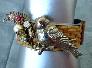 Bird on a Nest Bracelet Vintage Assemblage Bracelet
