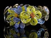 Corsage Vintage Assemblage Bracelet with Victorian Buttons