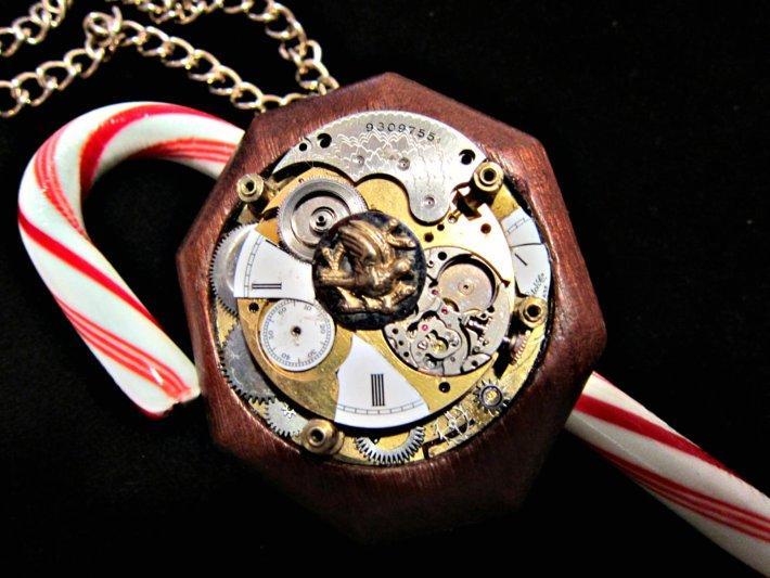 Time Flies Steampunk Pendant Necklace