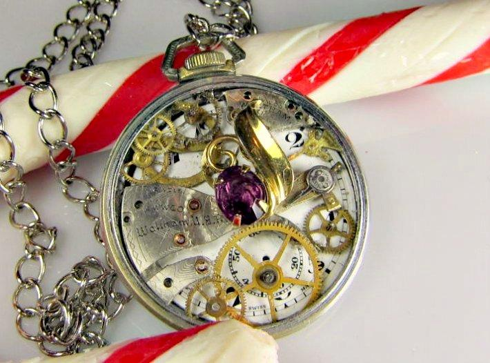 Jewel in Time Steampunk Necklace