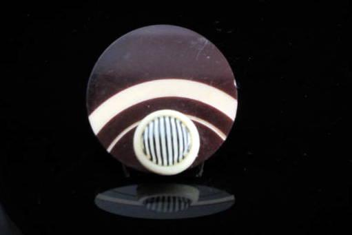 Circles Vintage Celluloid Button Ring