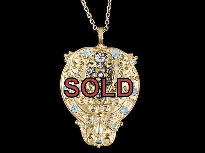 Art Nouveau Pendant Necklace