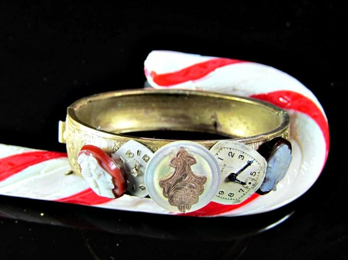 Cameo Steampunk Bracelet