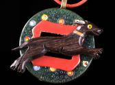 Art Deco Greyhound Assemblage Necklace