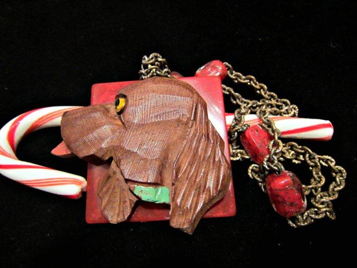 Cocker Spaniel on Bakelite Necklace