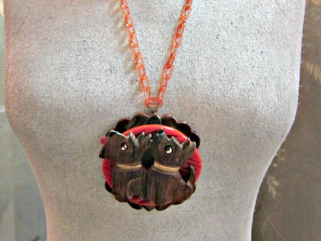 Scotty Dogs on Bakelite Necklace