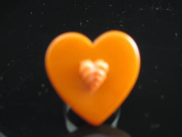 Bakelite Heart Ring