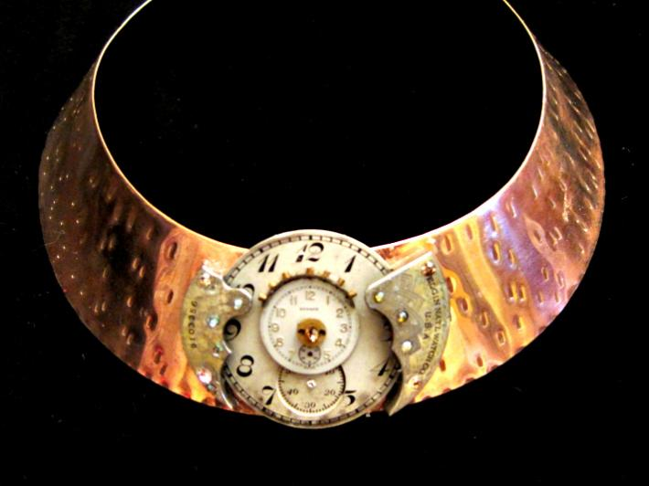 Double Time Steampunk Collar Necklace