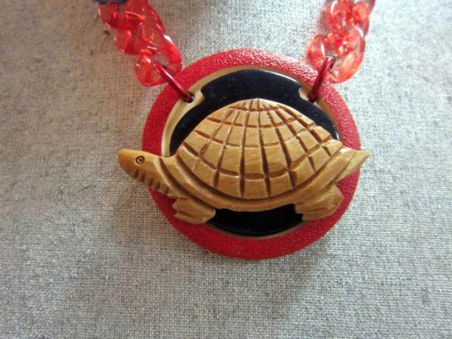 Turtle Assemblage Necklace