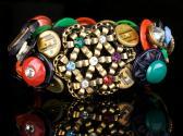 Many Colored Vintage Button Bracelet