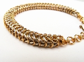 Gold and Silver Two Toned Adapted European Chainmaille Bracelet OOAK