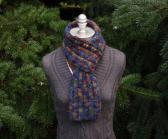 Dark Skies Felted Wool Blend Scarf OOAK