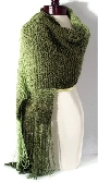 Knit Wrap in Shades of Olive