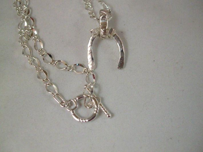 Sterling Silver Horse Shoe Country Style Necklace