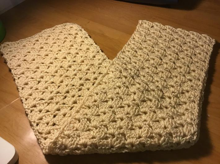Light gold shimmery scarf