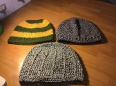 Assorted men's beanies
