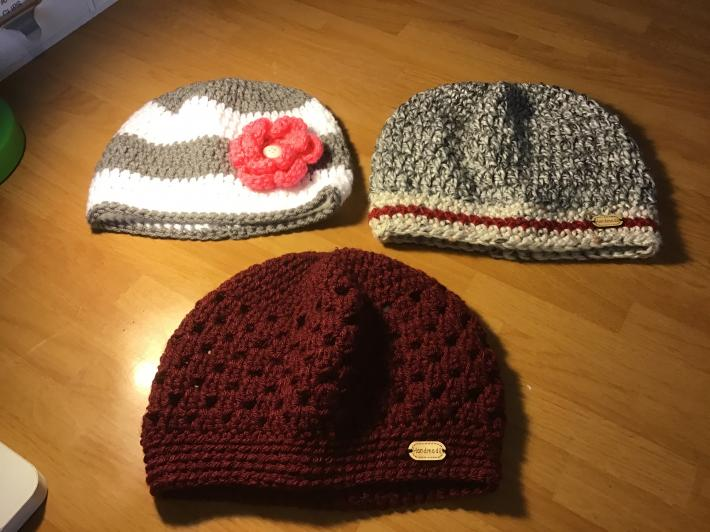 Messy bun hats