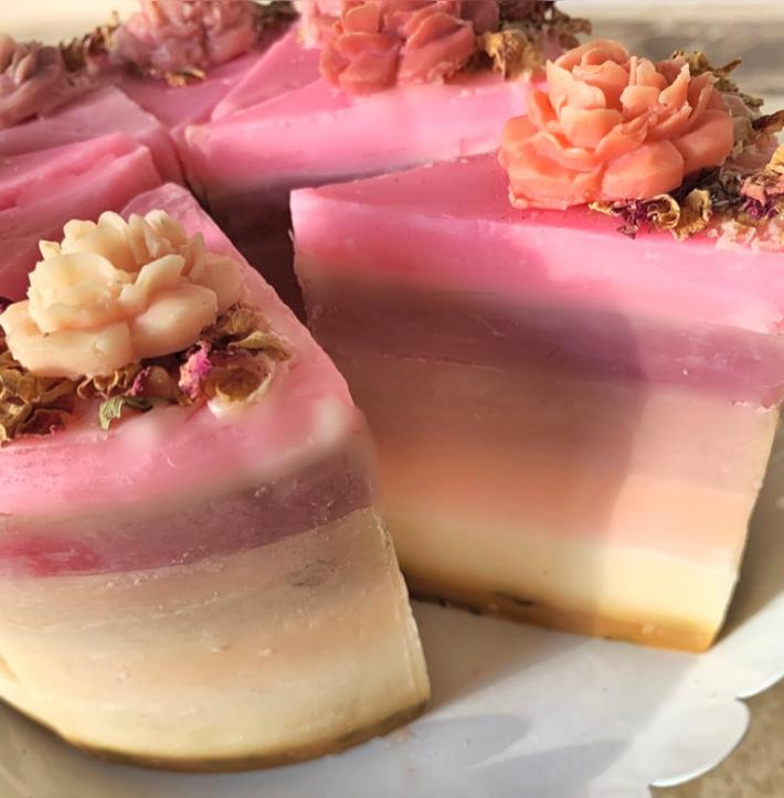 Pink Sugar Soap Cake