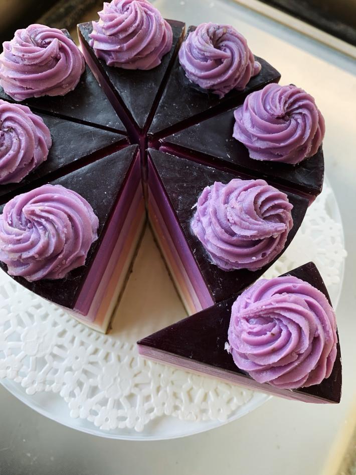 Lavender Soap Cake Slice