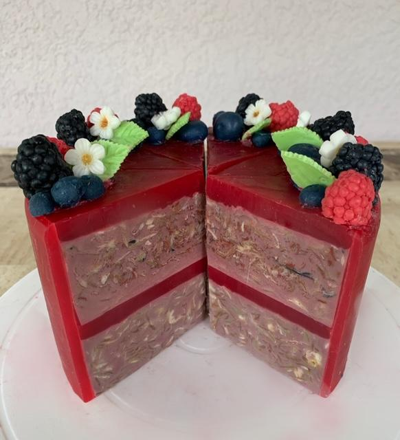 Raspberry Vanilla Cake Soap