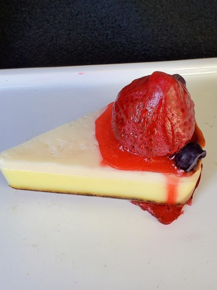 Strawberry Cheescake Soap Slice