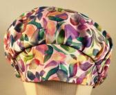 Scrub Hat Purple Leaves