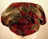 Scrub Hat Poinsettia Mosaic