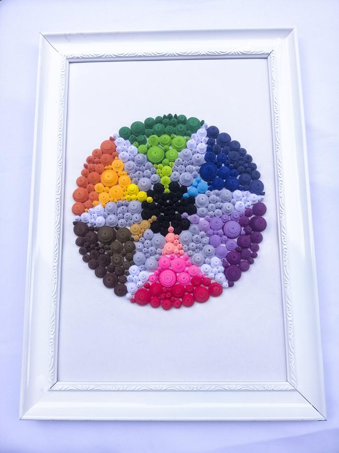 Most Beautiful paper quilling flower shape for wall