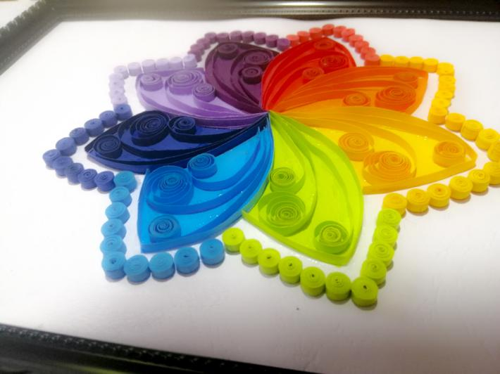 Most Beautiful paper quilling flower for wall