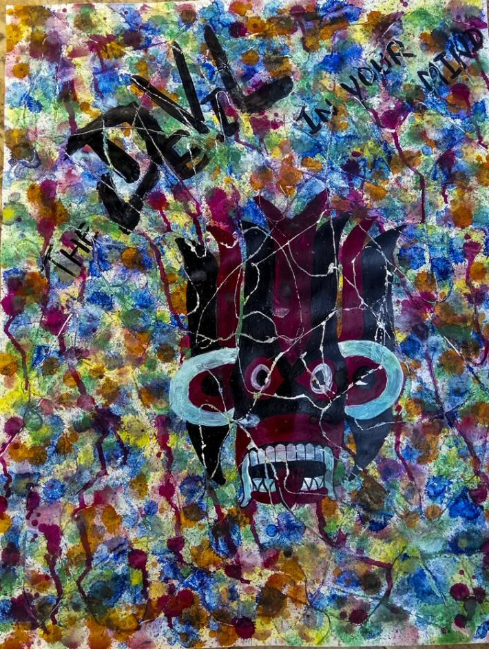 Bristol board painting one of kind  Abstract art