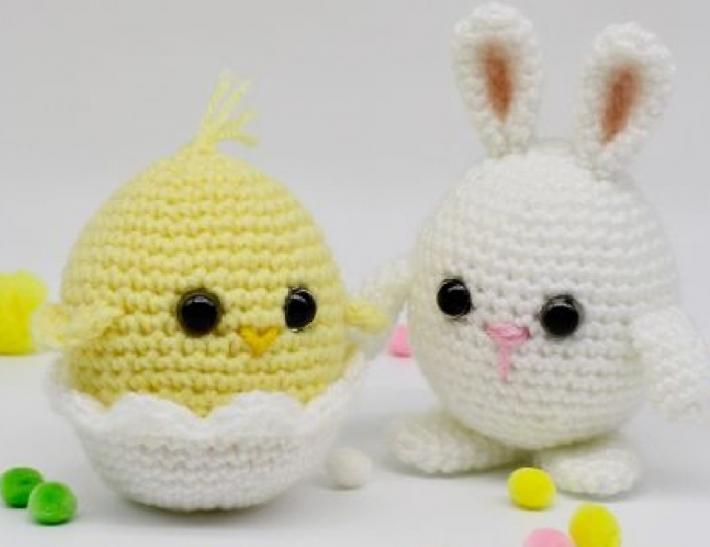 Pollito y conejo