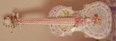 Mosaic Violin handmade Shabby Chic broken cut china plate rims mosaic