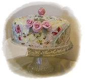 This item sold but can be made for you a custom order handmade Mosaic Cake Dome
