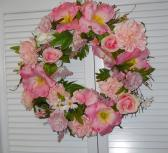 Handmade exquisite pink shabby chic hued wreath all year around wreath