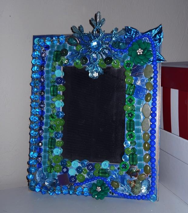 Picture Frame or Mirror Rhapsody in blue and green