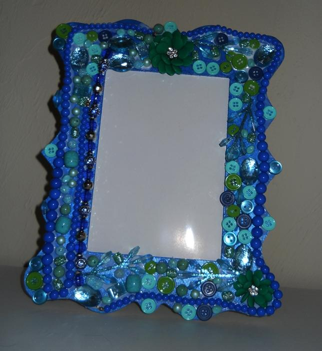 SOLD Photo Frame Picture Frame 5x7 Rhapsody in blue and green II