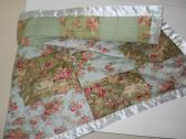 Handmade pieced lap quilt baby quilt crib quilt Robin Pandolph fabric