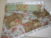 Handmade pieced lap quilt baby quilt crib quilt Robin Pandolph fabric