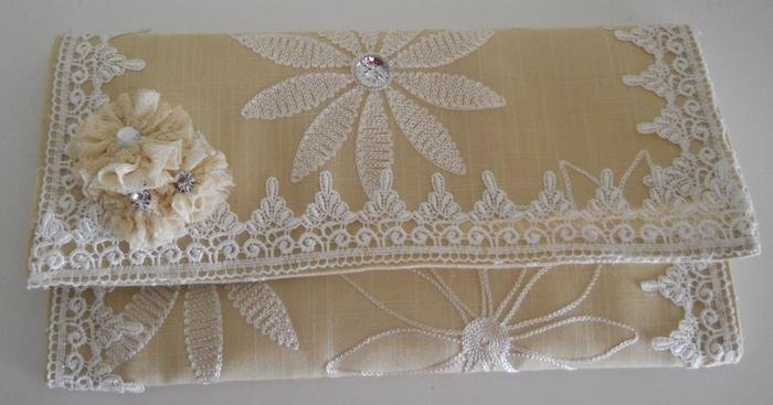 Handmade Bridal Party Wedding or Summer Clutch Purse