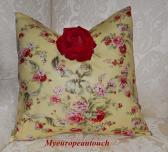 Handmade Decor Pillow Shabby Sofa Pillow Robin Pandolph Fabric