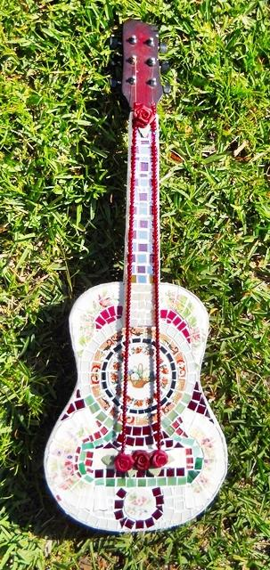 1 Guitar Handmade Mosaic Guitar Broken Songs and Melodies