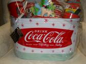 Handmade Gift Basket for Coke Lovers loaded up with goodies