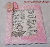 Handmade Shabby Chic Picture Frame White Porcelain all pinked up