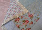 Handmade pieced Lap Quilt Baby Quilt Crib Quilt Robin Pandolph Cotton Fabric