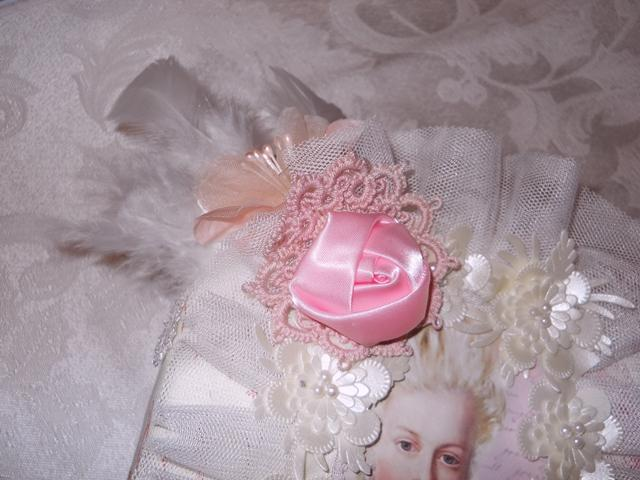 Shabby Chic small Photo Album a special gift in pink toile and laces