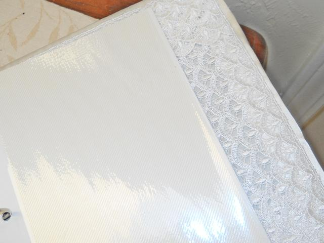 White Handmade Wedding Album Wedding Photo Album Satin bound and embellished